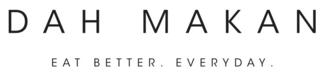 Black dah Makan logo, eat better, everyday
