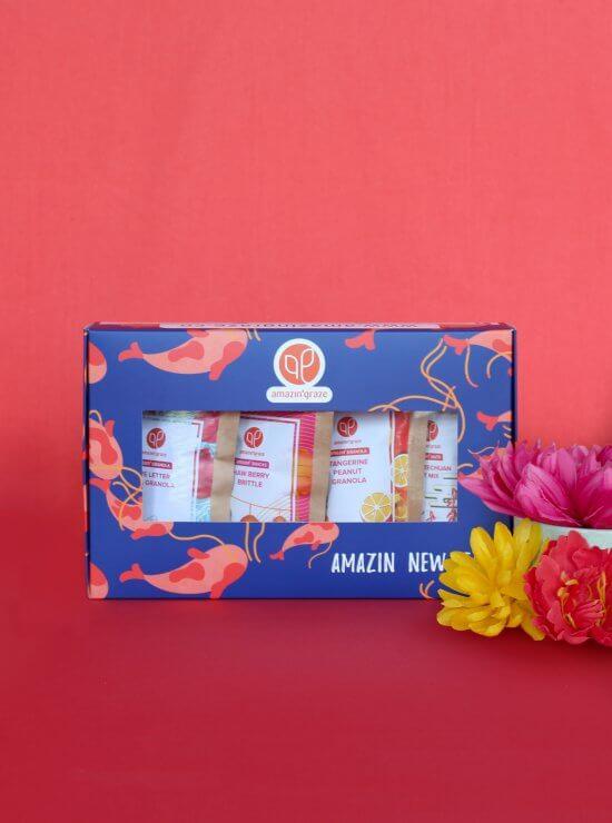 Blue mini box with koi fishes