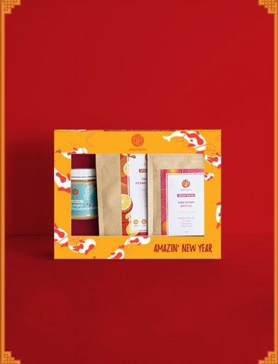 Gift Box: Tenacity - Containing Tangerine Peanut Granola (250g), Haw Berry Brittle (80 g), and Longan Macadamia Butter (180 g)