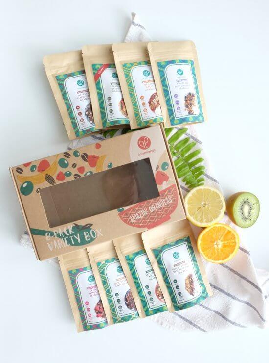 Granola variety box - flat lay
