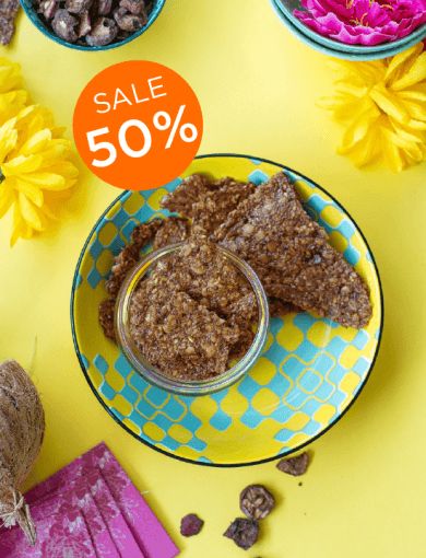 Haw Berry Brittle with 50% off messaging